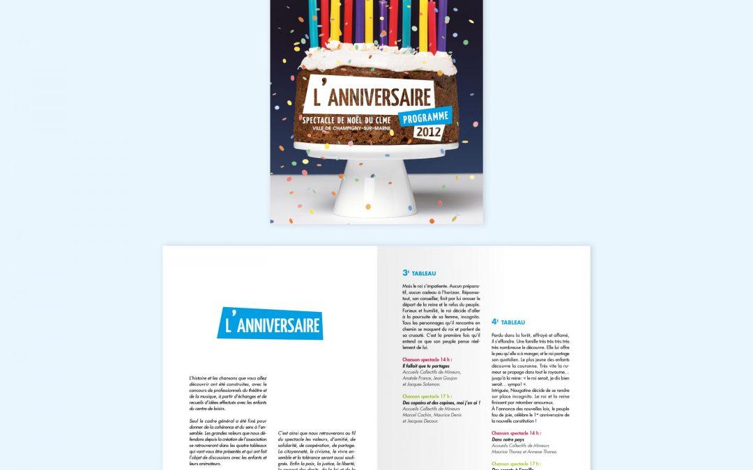 Brochure spectacle Centre de loisirs Champigny
