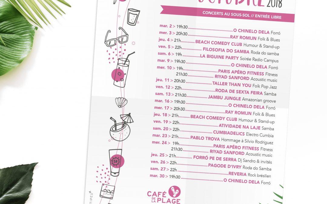 Affiche Café de la Plage 2018 2019