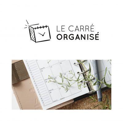 Logo et identité visuelle Le Carré Organisé